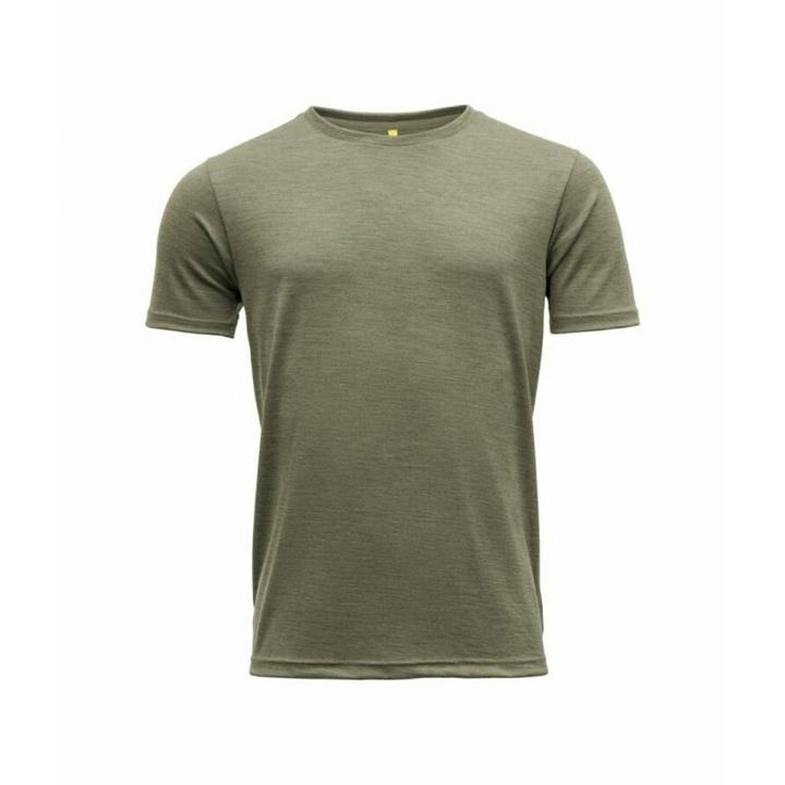 Pánske vlnené tričko s krátkym rukávom Devold Eika GO 181 280 B 404A zelené