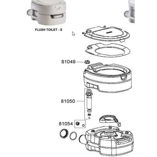 Náhradné uzáver na pumpu pre toaletu Campingaz Portable Flush Small 81054