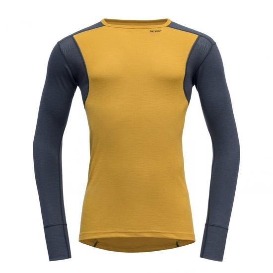 Pánske triko Devold Hiking Man Shirt Arrowwood / Night GO 245 220 B 058A