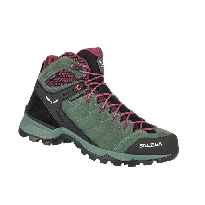 Dámske topánky Salewa WS ALP MATE MID WP duck green / ghododendon