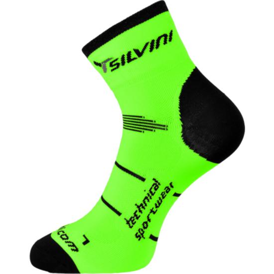 Cyklistické ponožky Silvini Orato UA445 green-charcoal