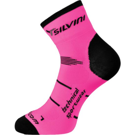 Cyklistické ponožky Silvini Orato UA445 pink-charcoal