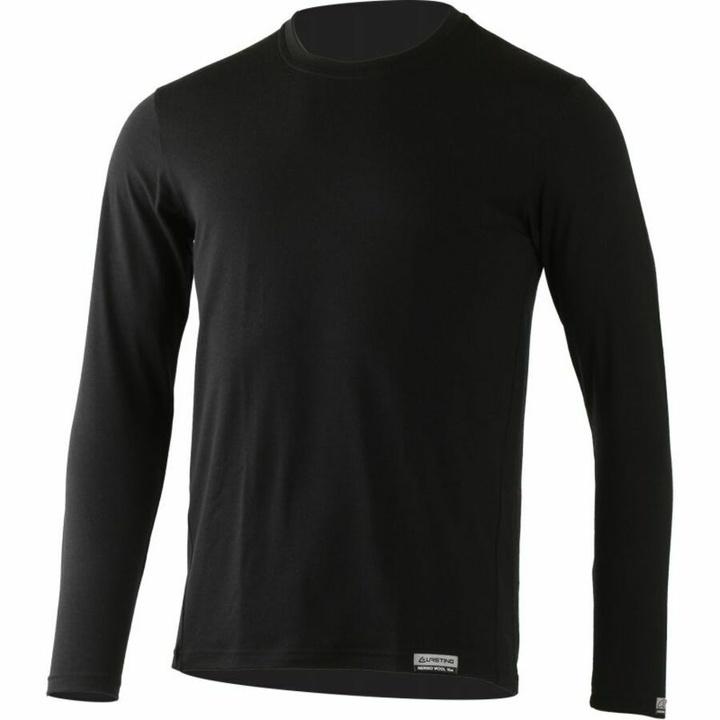 Pánske merino triko Lasting Alan čierne