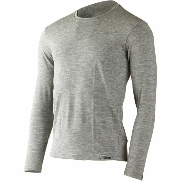 Pánske merino triko Lasting LOGAN-8484 sivá