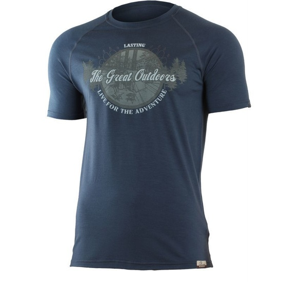 Merino triko Lasting LUCAS 5656 modré vlnené