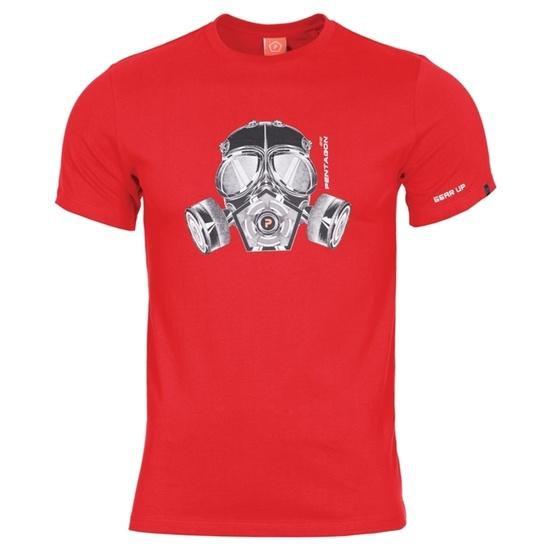 Pánske tričko PENTAGON® Gas mask červené