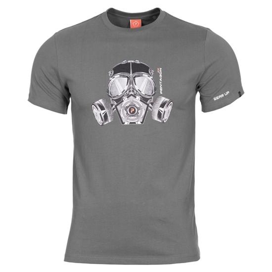 Pánske tričko PENTAGON® Gas mask wolf grey