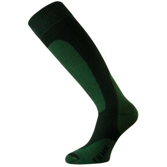Ponožky Lasting TKHK farba-kombinácia : čierna / zelená
