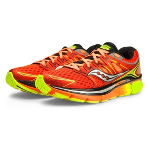Pánske bežecké topánky Saucony Triumph iso Red / orange / citrón, Saucony