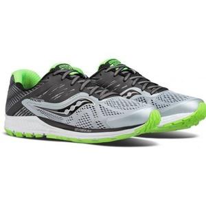 Pánske bežecké topánky Saucony Ride 10 Grey / Black / Slime, Saucony