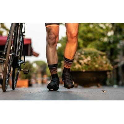 Funkčný ponožky Rogelli HERO nielen pre cyklistov, čierno-oranžové 007.905, Rogelli