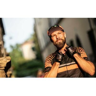 Cyklistická šiltovka pod helmu Rogelli HERO, čierno-oranžová 009.974, Rogelli