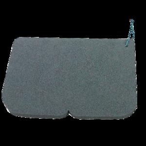 Sedadlo Alu EVA 245 x 190 x 14 mm čierne, Yate