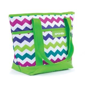 Plážová taška Spokey ACAPULCO zelená vzor, Spokey