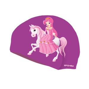Detská plavecká čiapka Spokey STYLO Junior fialová princezná, Spokey
