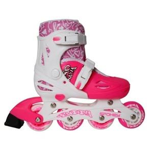 Kolieskové korčule Spokey BUDDY bielo-ružové, Spokey