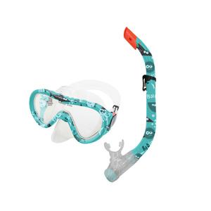 Sada okuliare + šnorchel TAHITI JUNIOR zelený vodný svet, Spokey