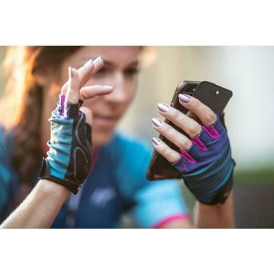 Dámske cyklistické rukavice Rogelli IMPRESS, modro-ružové 010.600, Rogelli