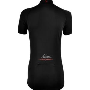 Dámsky cyklistický dres Silvini GRUSO WD1026 black-red, Silvini