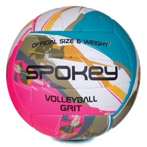 Volejbalový lopta Spokey GRIT tyrkysovo-bielo-ružový č.5, Spokey