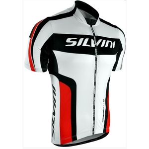 Pánsky cyklistický dres Silvini LEMME MD603 white-red, Silvini