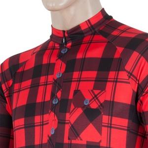 Pánsky dres Sensor CYKLO SQUARE čierna / červená 16200150, Sensor