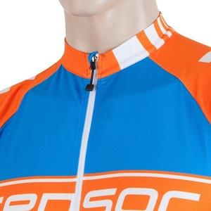 Pánsky cyklo dres Sensor CYKLO TEAM modrá / oranžová 17100068, Sensor