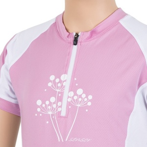 Detský cyklo dres Sensor CYKLO ENTRY ružová / biela 15100103, Sensor