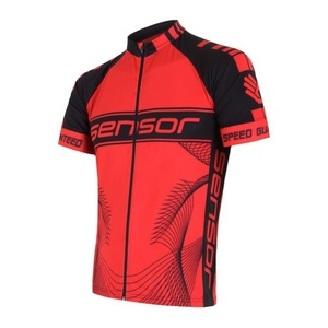 Pánsky cyklo dres Sensor CYKLO TEAM červená / čierna 15100086, Sensor
