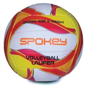 Volejbalový lopta Spokey LAUFER bielo-červeno-žltý, Spokey