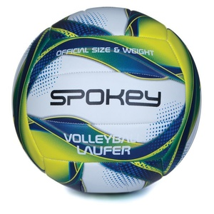 Volejbalový lopta Spokey LAUFER bielo-modro-žltý rozm.5, Spokey