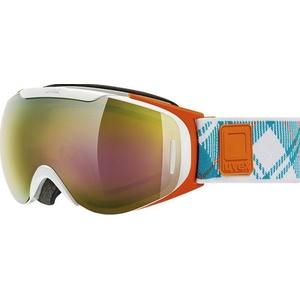 Lyžiarske okuliare Uvex G.GL 9 RECON READY, white-orange double lens / litemirror gold (1126), Uvex
