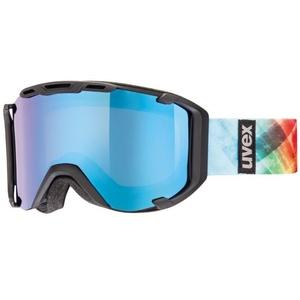 Lyžiarske okuliare Uvex SNOWSTRIKE PM, black mat double lens / polavision litemirror blue / clear (2226), Uvex