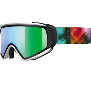 Lyžiarske okuliare Uvex jakk TAKE OFF, white mat / litemirror green (1226), Uvex