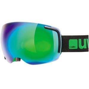 Lyžiarske okuliare Uvex BIG BIG 40 FM, black-green mat double lens / full mirror green (2726), Uvex