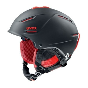 Lyžiarska helma UVEX P1US PRO, black-red mat (S566156230*), Uvex