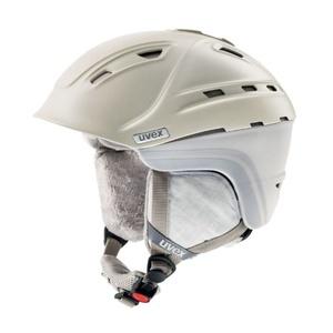 Lyžiarska helma UVEX P2US WL, creme / grey mat (S566178150*), Uvex