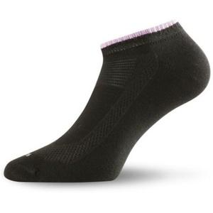 Dámske bavlnené ponožky Lasting Ara 906 čierna, Lasting