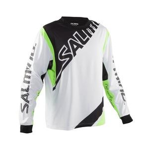 Brankársky dres Salming Phoenix Goalie Jsy SR White / GeckoGreen, Salming