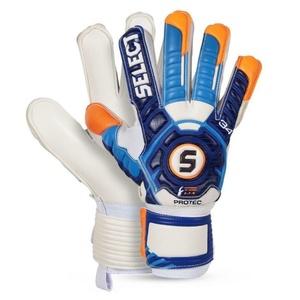 Brankárske rukavice Select Goalkeeper gloves 34 Protec bielo modrá, Select