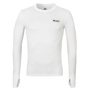 Kompresný triko Select Compression T-shirt L/S 6902 biela, Select