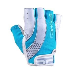 Dámske fitness rukavice Spokey ZOE II bielo-tyrkysové, Spokey