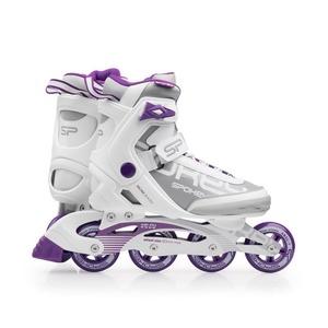 Kolieskové korčule Spokey PRIME bielo-fialové, Spokey