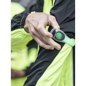 Bezpečnostná svietidlo Rogelli NEON LED s upevňovacím pásikom, reflexná zelené 890.610., Rogelli
