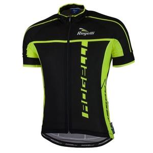 Ultraľahký cyklistický dres Rogelli UMBRIA 2.0 s krátkym rukávom, čierno-reflexná žltý 001.247., Rogelli