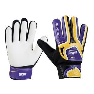 Spokey CATCH II brankárske rukavice žlto-fialové, Spokey