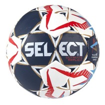 Hádzanárska lopta Select HB Ultimate Replica Champions League Men bielo červená, Select