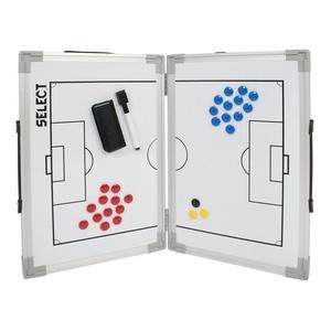 Taktická tabula Select Tactics board alu futbal biela, Select