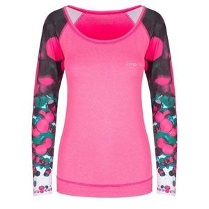 Spokey fitness triko dlhý rukáv BALLS ružové, Spokey