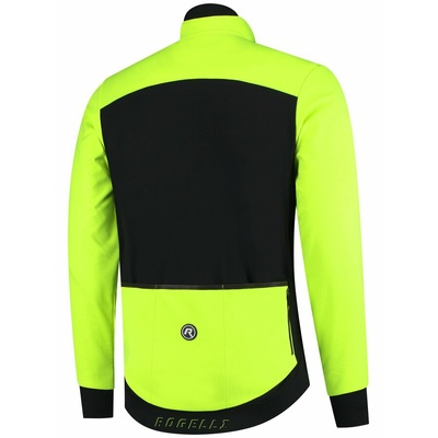 ľahká a extraprodyšná sofshellové bunda Rogelli Content 2.0 s modernými detaily, čierna-reflexná žltá 003.143, Rogelli